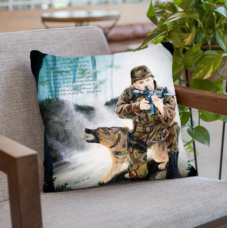 Armor Of God With Verse Throw Pillow By Holly Simental