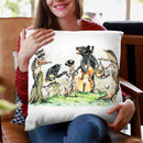 Bluegrass Gang Throw Pillow By Holly Simental