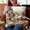 Chocolate Bandit Throw Pillow By Holly Simental