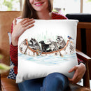 Critter Canoe Throw Pillow By Holly Simental
