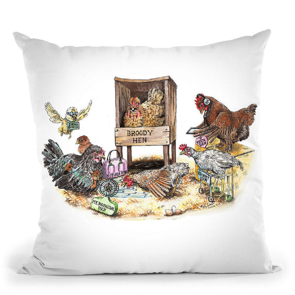 Life In The Coop Throw Pillow By Holly Simental