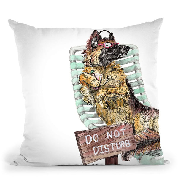 Lounge In The Sun Throw Pillow By Holly Simental