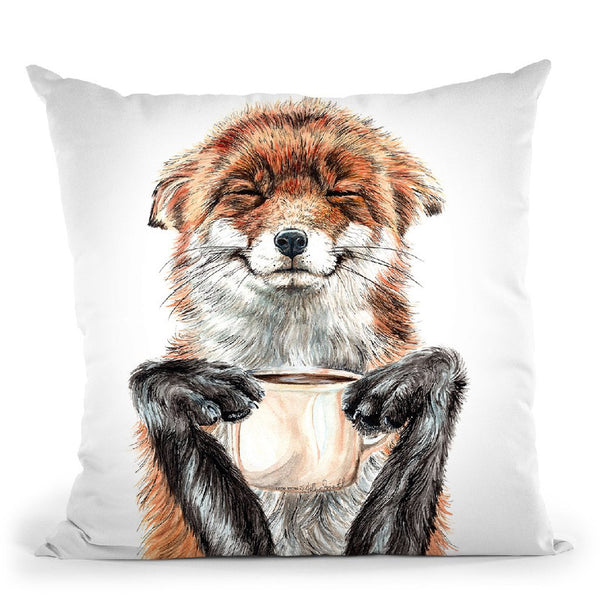 Morning Fox Throw Pillow By Holly Simental