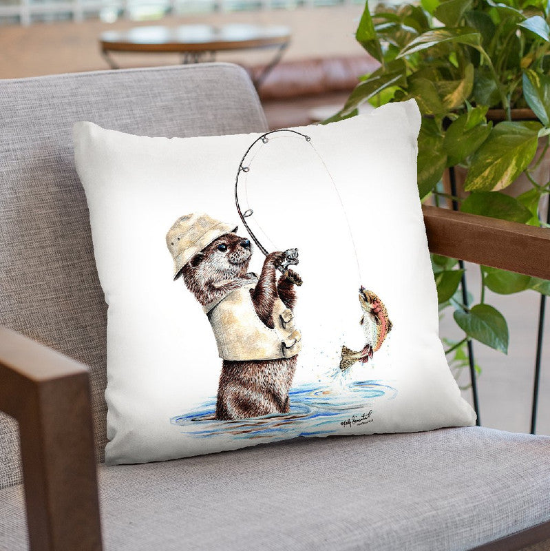 Nature'S Fisherman Throw Pillow By Holly Simental
