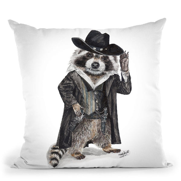 Raccoon Bandit Throw Pillow By Holly Simental
