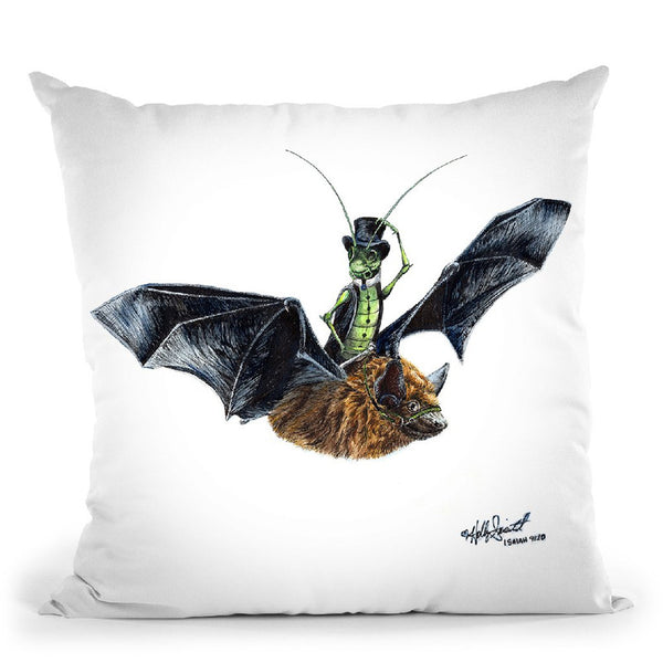 Riderin The Night Throw Pillow By Holly Simental