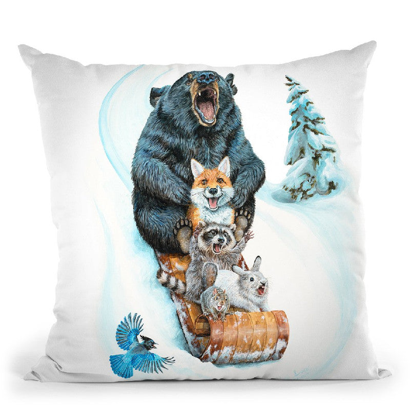 The Big Hill Throw Pillow By Holly Simental
