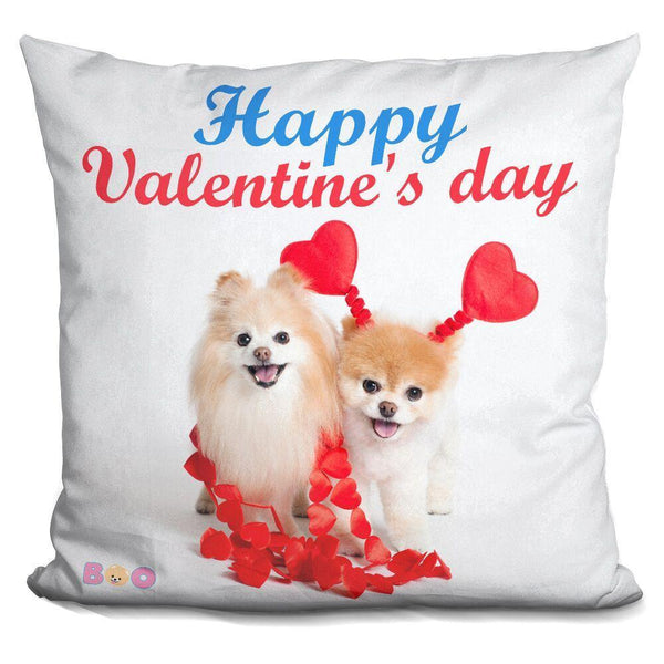 Boo Happy Valentine'S Day Throw Pillow