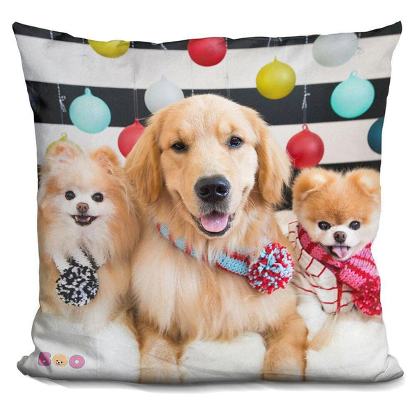 Boo Happy Holidays From The Crew Throw Pillow