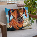 Sand Dog Throw Pillow By Image Conscious - by all about vibe