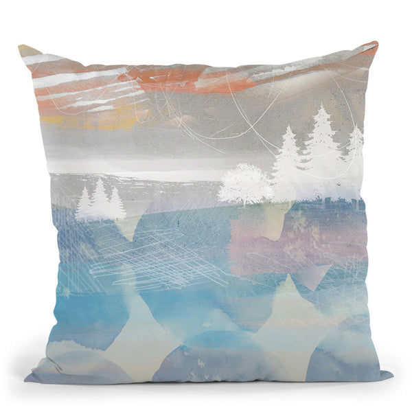 Crimson Sunset No 2 Throw Pillow By Image Conscious - by all about vibe
