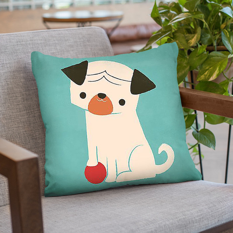 My Red Ball Throw Pillow By Image Conscious - by all about vibe