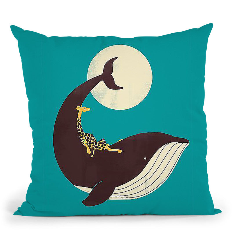 The Giraffe And The Whale Throw Pillow By Image Conscious - by all about vibe