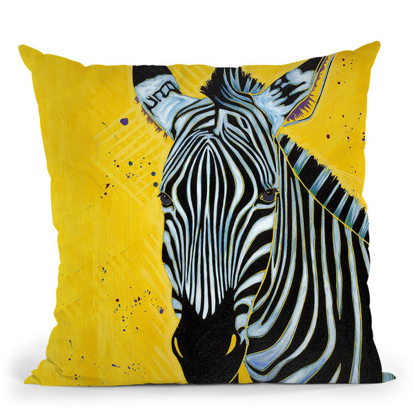 Zebra Throw Pillow By Image Conscious - by all about vibe