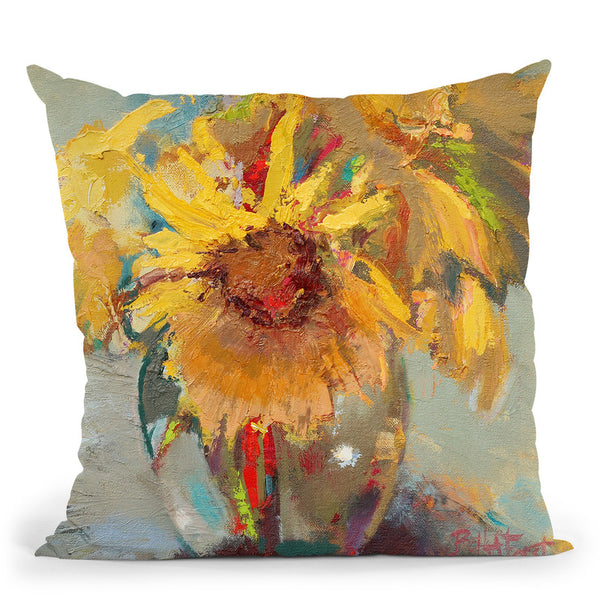Water Globe Blossoms Throw Pillow By Image Conscious - by all about vibe