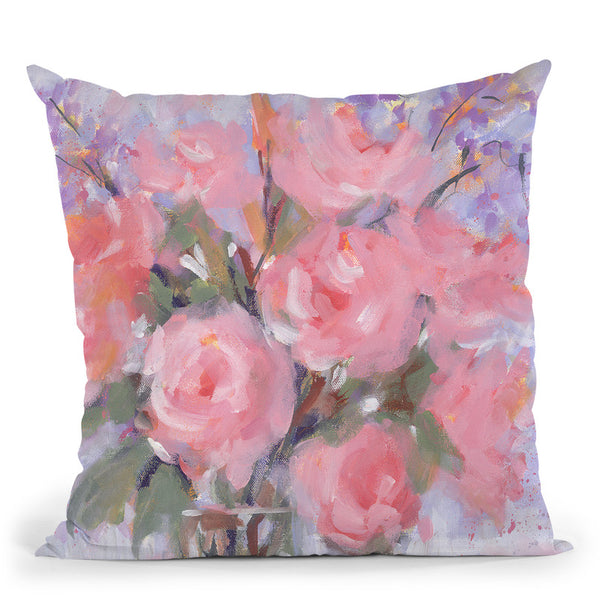 Champagne Pinks Throw Pillow By Image Conscious - by all about vibe