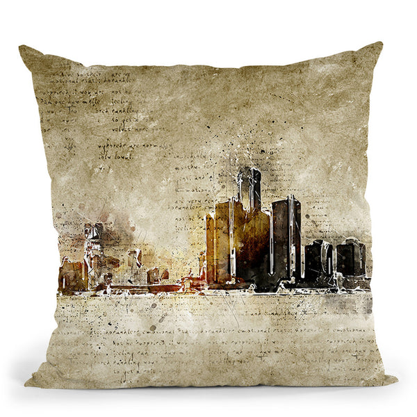 Detroit Throw Pillow By Image Conscious - by all about vibe
