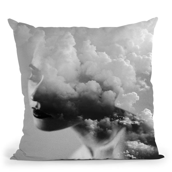 Cloudy Mind Throw Pillow By Image Conscious - by all about vibe