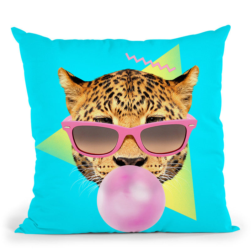 Bubble Gum Throw Pillow By Image Conscious - by all about vibe