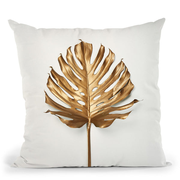 Monstrea Gold Leaf Throw Pillow By Image Conscious - by all about vibe