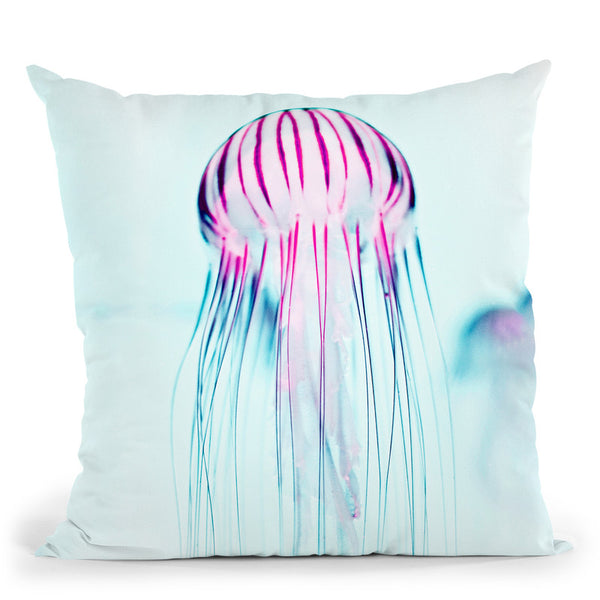 Jelly Fish Throw Pillow By Image Conscious - by all about vibe