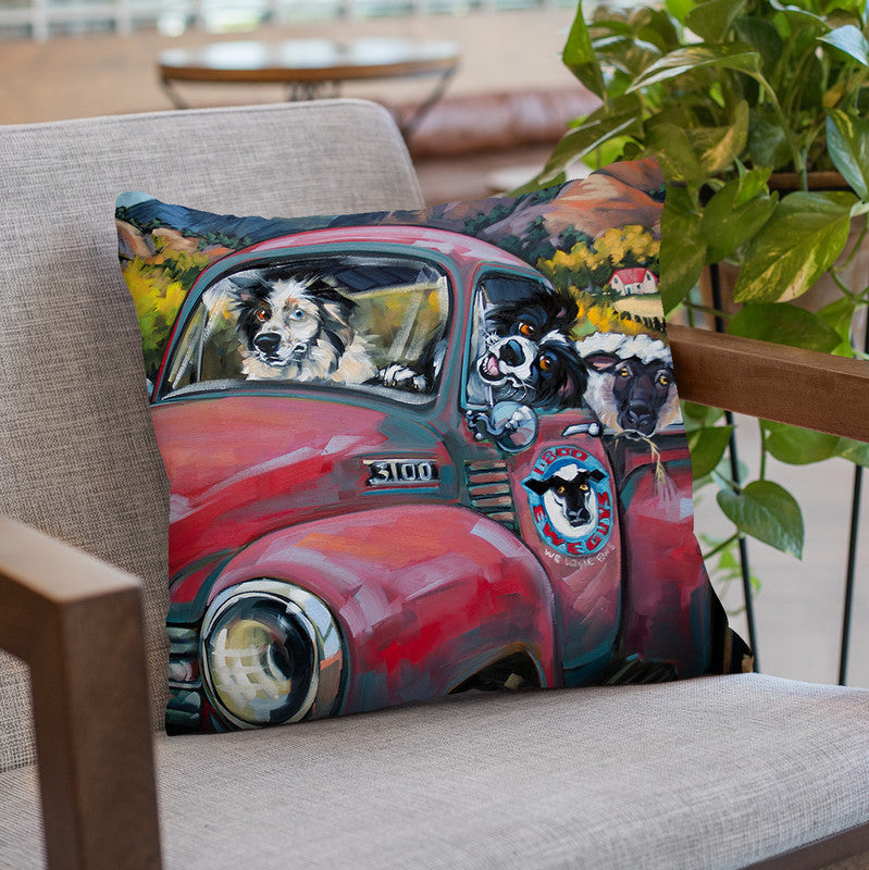 1-800 Ewe Guys Throw Pillow By Image Conscious - by all about vibe