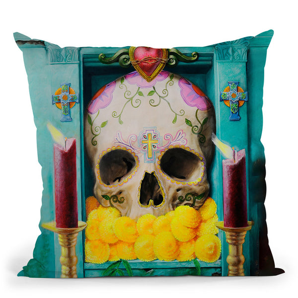 Calavera Throw Pillow By Image Conscious - by all about vibe