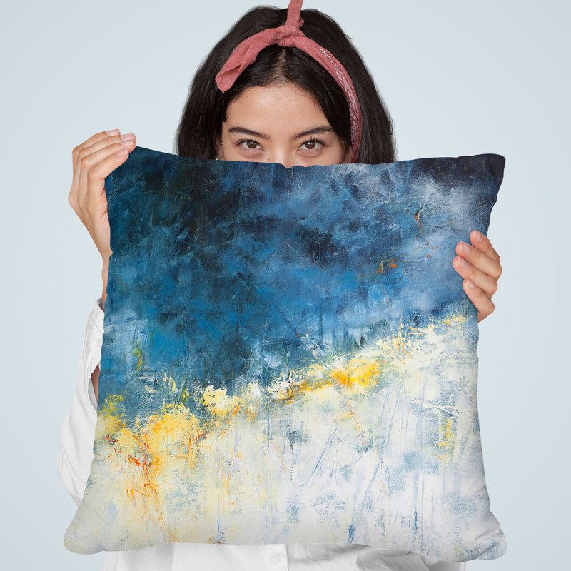 Yellow Bloom Throw Pillow By Image Conscious