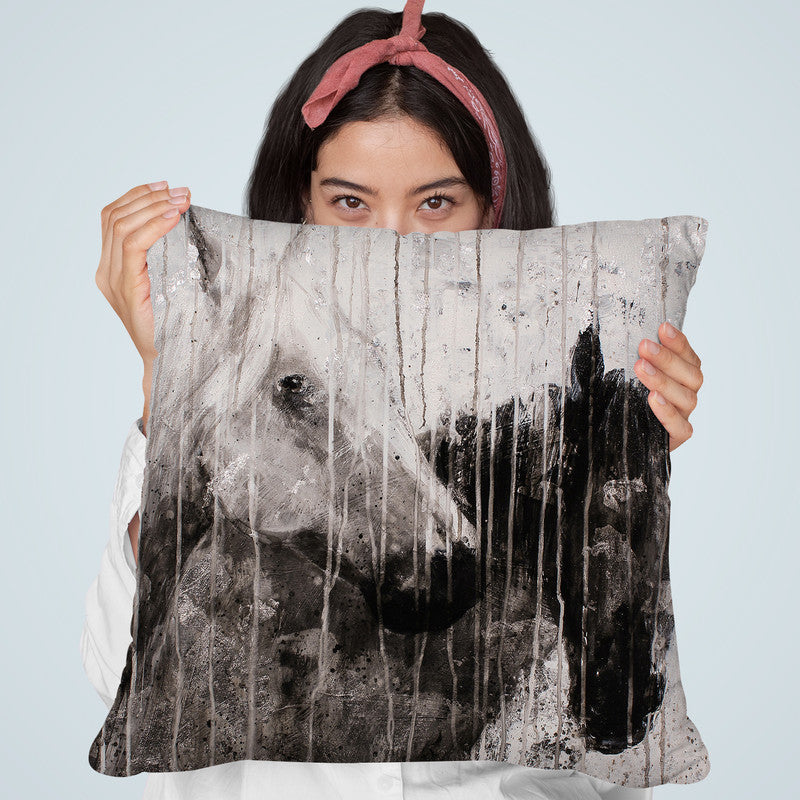 A Pair Throw Pillow By Image Conscious