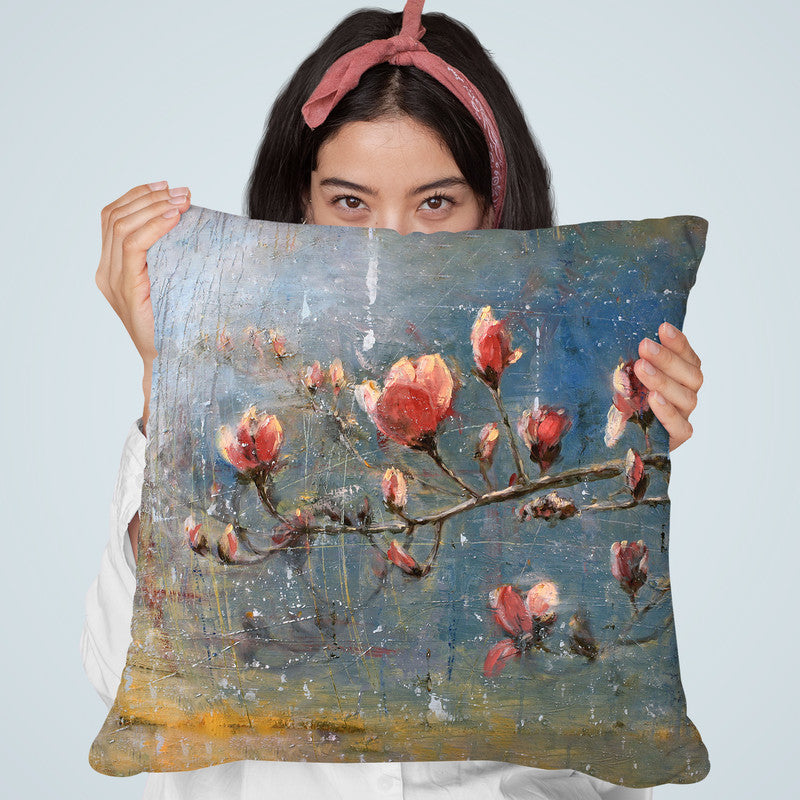 Spring Blossoms Throw Pillow By Image Conscious