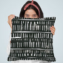 Black Collage Throw Pillow By Image Conscious