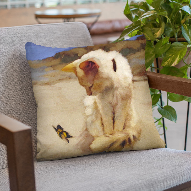 Eye On Butterfly V Throw Pillow By Image Conscious - by all about vibe