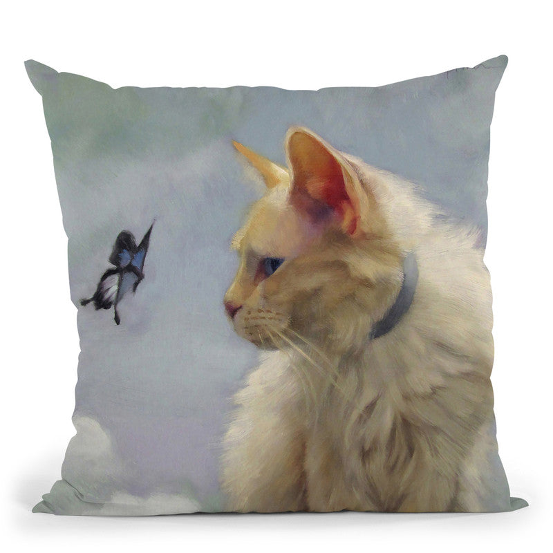 The Greeter Throw Pillow By Image Conscious - by all about vibe