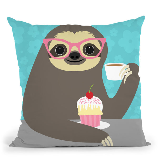 Diva Sloth Throw Pillow By Image Conscious - by all about vibe