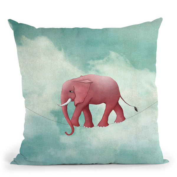 Walking On A Thin Line Throw Pillow By Image Conscious - by all about vibe
