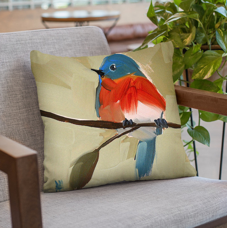 Bluebird No 21 Throw Pillow By Image Conscious - by all about vibe