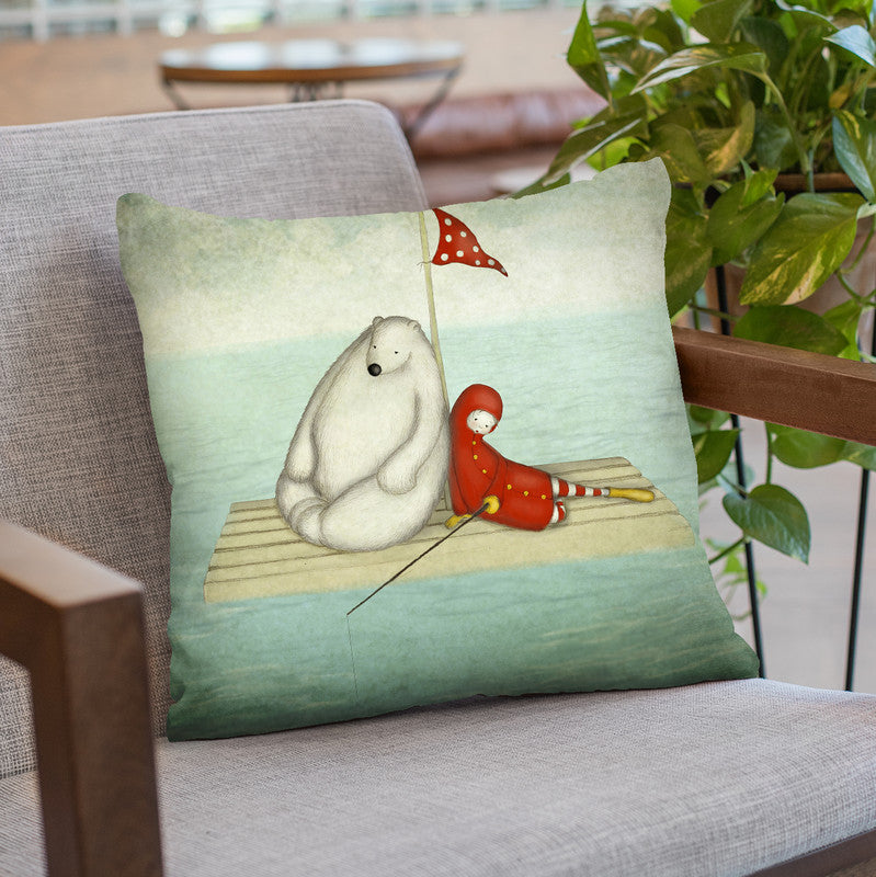 Calm Water Throw Pillow By Image Conscious - by all about vibe