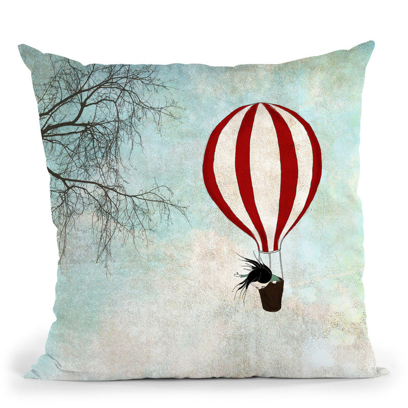 Up In The Air Throw Pillow By Image Conscious - by all about vibe