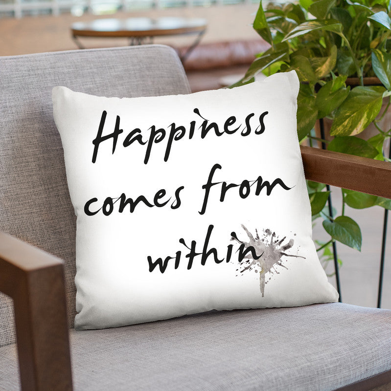 Happiness Throw Pillow By Image Conscious - by all about vibe