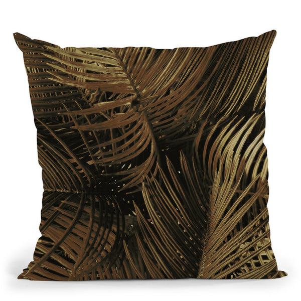 Golden Palm 2 Throw Pillow By Image Conscious - by all about vibe