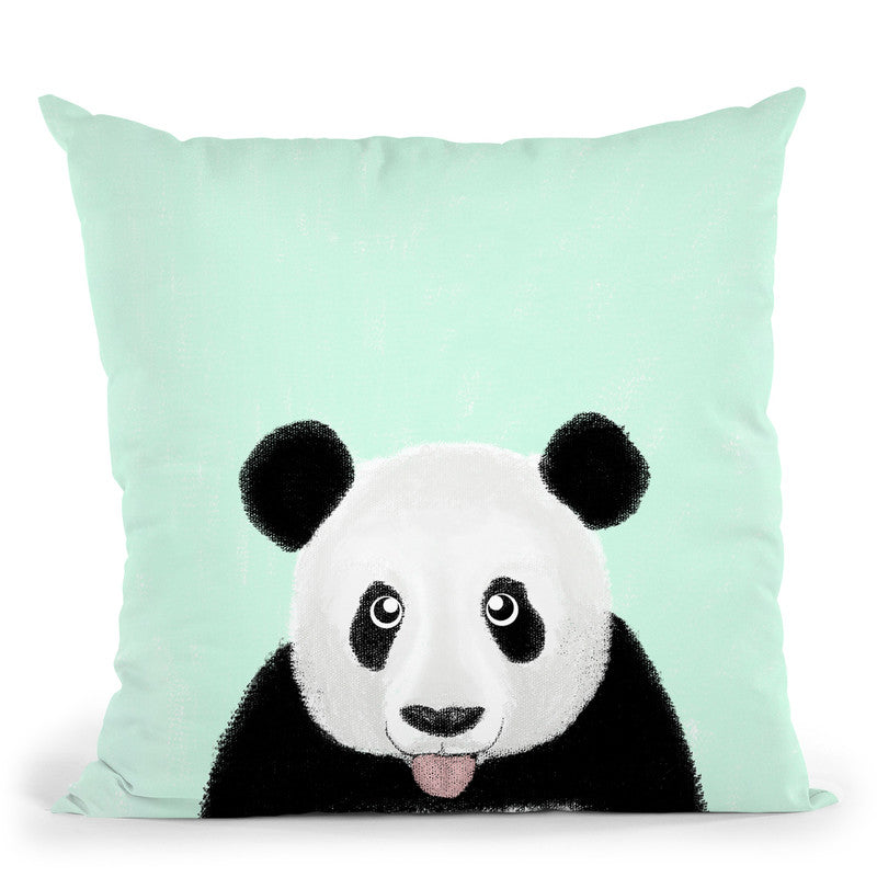Cute Panda Throw Pillow By Image Conscious - by all about vibe