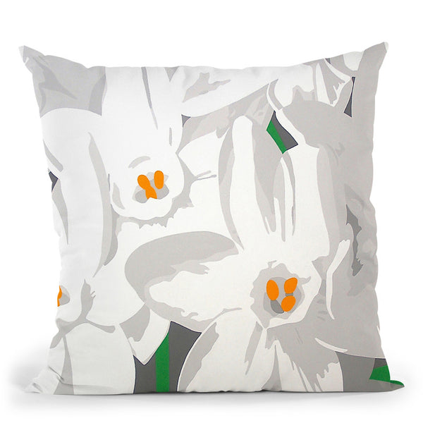 Paperwhites Throw Pillow By Image Conscious - by all about vibe