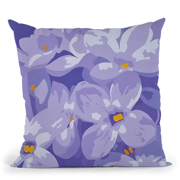 Purple Passion Throw Pillow By Image Conscious - by all about vibe