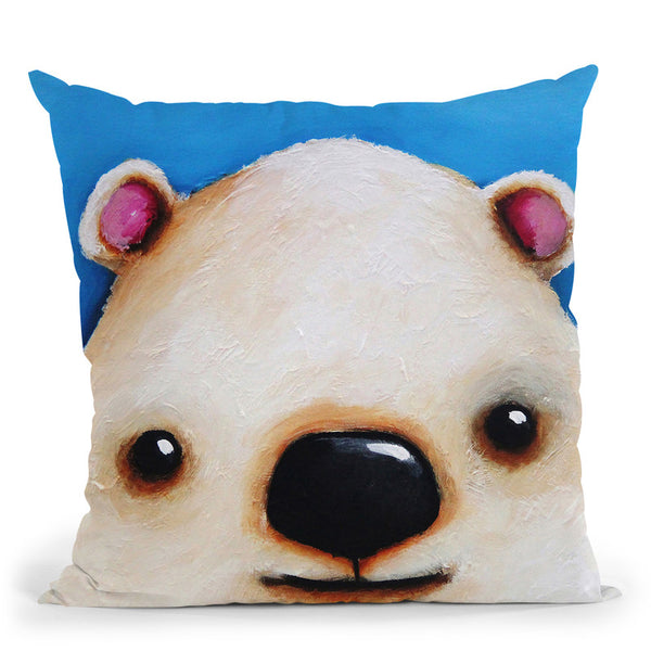 The Polar Bear Throw Pillow By Image Conscious - by all about vibe