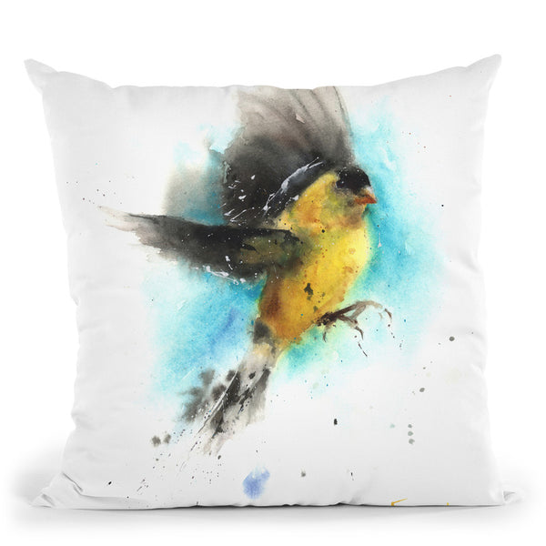 Goldfinch Throw Pillow By Image Conscious - by all about vibe