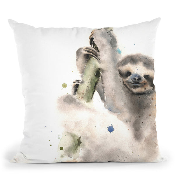Sloth Throw Pillow By Image Conscious - by all about vibe