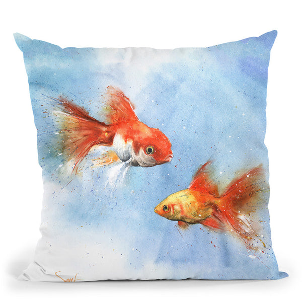 Goldfish Throw Pillow By Image Conscious - by all about vibe
