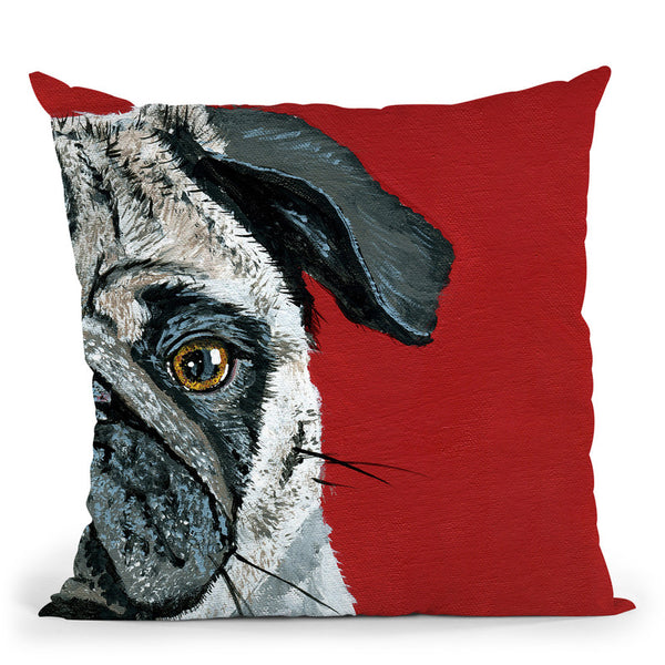 Pug A Boo Throw Pillow By Image Conscious - by all about vibe