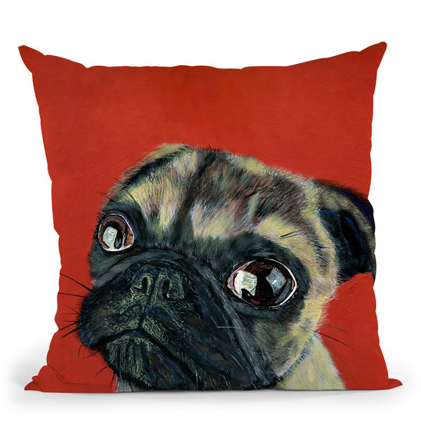 Pugly Throw Pillow By Image Conscious - by all about vibe