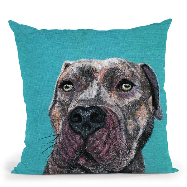 Good Boy Throw Pillow By Image Conscious - by all about vibe